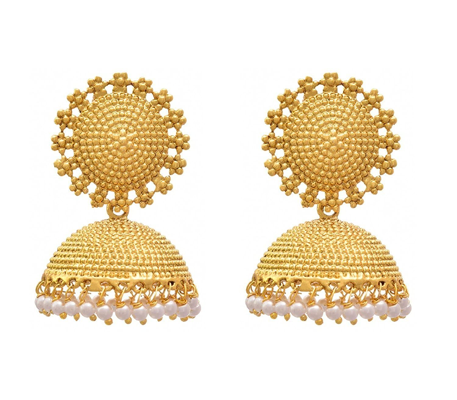 jewellery itm jhumka gold uk bollywood earrings s jhumki wear indian image earring polki is loading ethnic party