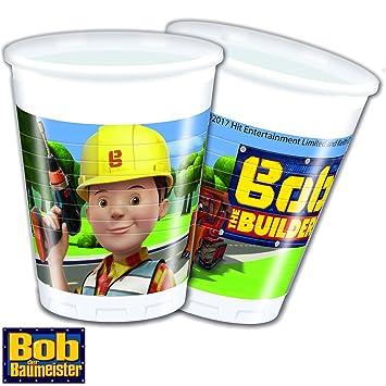 8 vasos * Bob el constructor * Cumpleaños para niños o ...