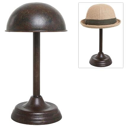 Merveilleux Metal Tabletop Hat Rack / Wig Storage Holder Display Stand With (Bronze)