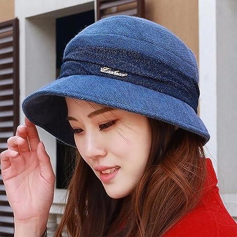 YXLMZ Señoras Mujeres Sombreros Cuatro Trimestre Tela Cuenca Cap Cap Cap  Moda Sombrero Exterior Madre Tapa 1066b8541f4
