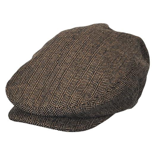Baskerville Hat Company Dartmoor Herringbone Wool Ivy Cap - Brown Tan  (Small) 4067be4eabd4