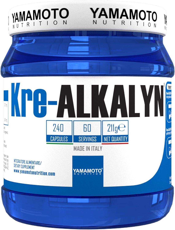 Yamamoto Nutrition Kre-Alkalyn Suplemento Alimenticio de Creatina Kre-Alkalyn - 240 Cápsulas