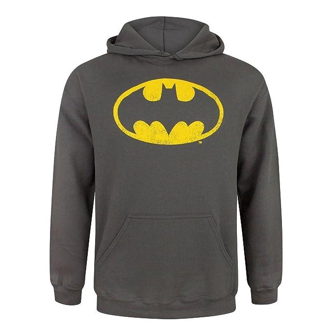 DC Comics - Sudadera con Capucha con Escudo Batman Desgastado para Hombre: Amazon.es: Ropa y accesorios