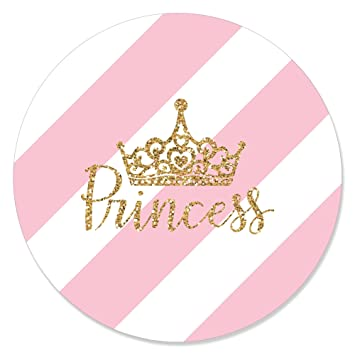 amazon com little princess crown pink and gold princess baby