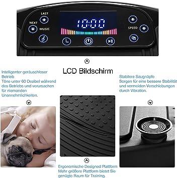 250W Vibrationsplatte Fitness Vibrationstrainer LCD-Display Trainingsbänder 01