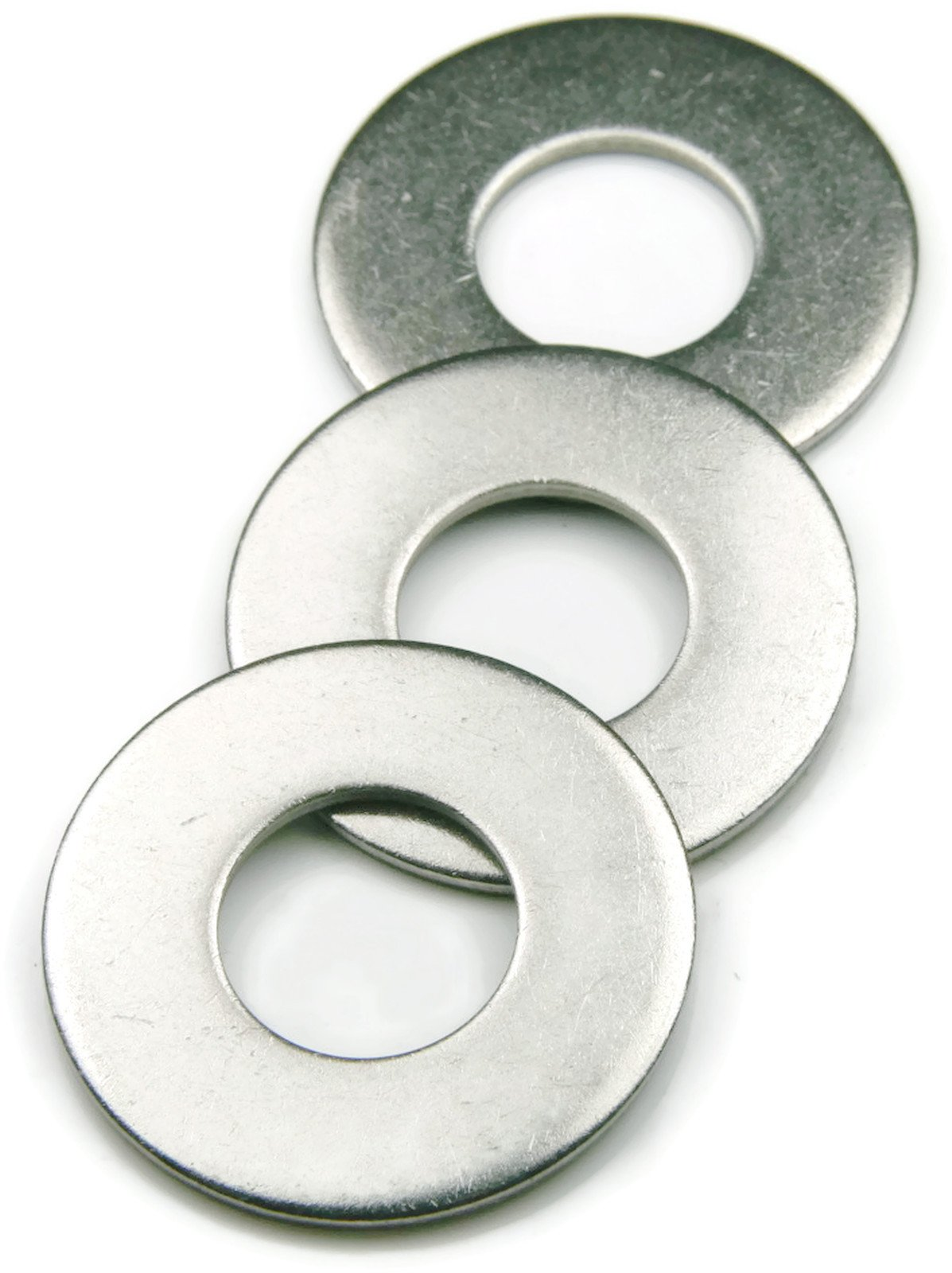 Flat Washers 304 Stainless Steel - 1'' (1.062 ID x 2 OD x .125 Thick) Qty-25