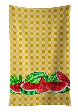 Caroline tesoros del bb7183ktwl sandía sobre Basketweave decorado plato toalla, 25hx15 W, multicolor