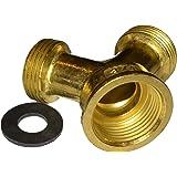 Brass washing machine Y piece