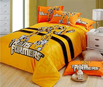 Amazon bumblebee printing duvet cover set transformers bed bumblebee printing duvet cover set transformers bed sheet cotton bedding set comforter cover fitted sheet pillowcase junglespirit Choice Image