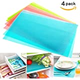 4 pcs / lot 29cm45cm Multifunction Refrigerator Pad Mat Fridge Anti-fouling Anti Frost Waterproof Pad