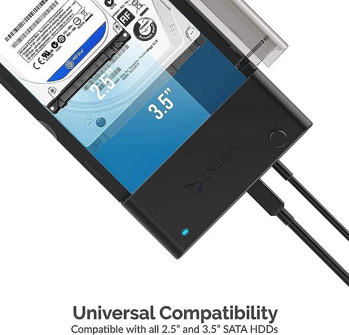 Sabrent Estación de acoplamiento plana del disco duro externo USB ...