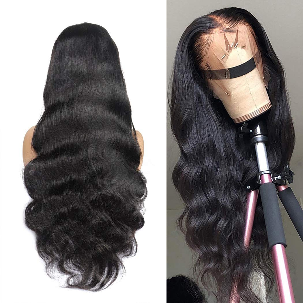Megalook 360 Lace Frontal Wigs Human Hair Wigs 20inch Body Wave Lace Front Wigs Pre Plucked Hairline Human Hair Lace Front Wigs 150% Density by MegaLook