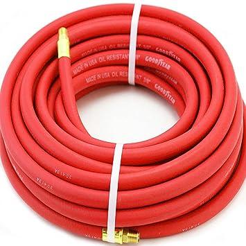 Manguera de compresor de aire, color rojo, 1,9 cm x 127 cm