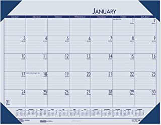 product image for House of Doolittle 2020 Monthly Desk Pad Calendar, EcoTones, Blue Paper, 22 x 17 Inches, January - December (HOD12440-20)
