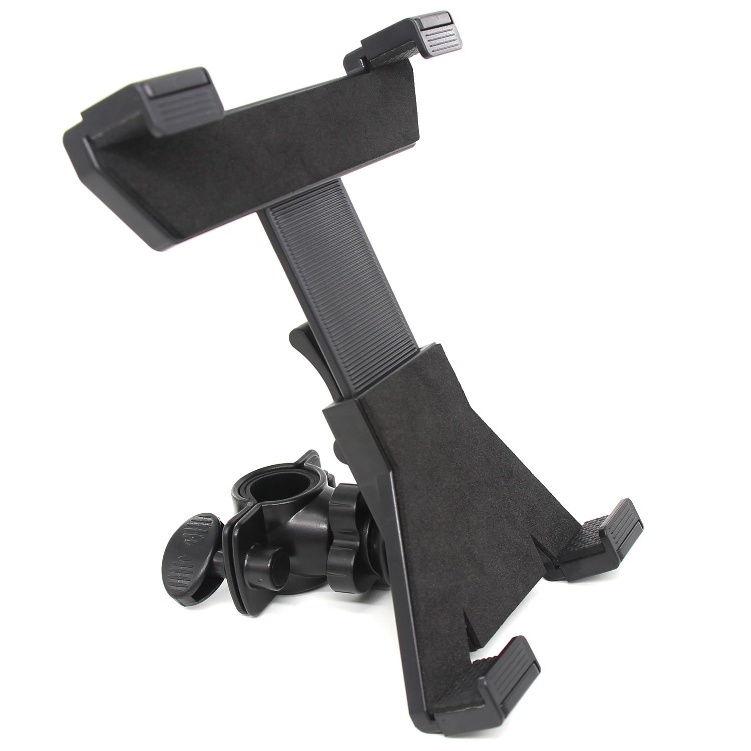 Xcellent Global Universal 7'-11' Tablet Holder for Mic Microphone Stand, Adjustable Bike Bicycle Mount Compatible with Samsung Galaxy Tab and More CA039