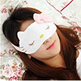 Cute Cartoon Hello Kitty Sleeping Eye Mask Cosplay Props Masks for Sleeping Travel