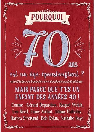 Carte Anniversaire 70 Ans Cadeau Maestro Amazon Fr Cuisine Maison