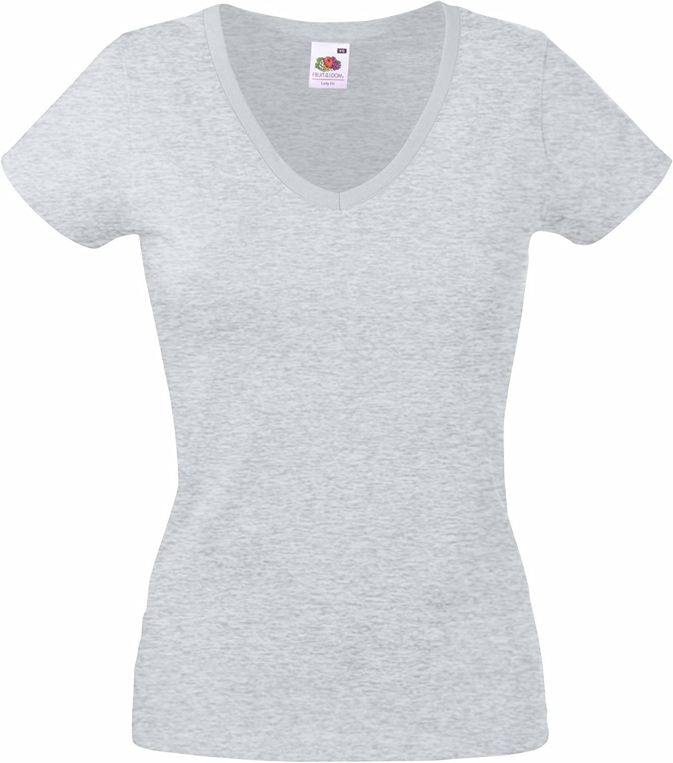 Fruit of the Loom Lady-Fit Valueweight V-Neck T-Shirt SS047