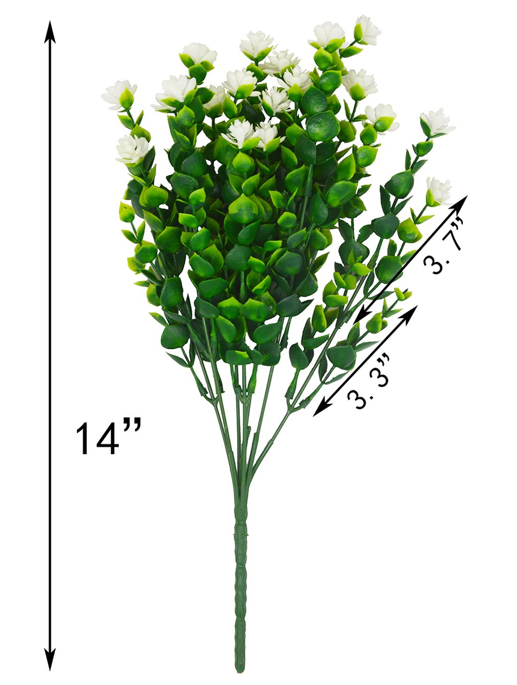 Beebel Artificial Flower Greenery Plants for Home Kitchen Dining Room Hanging Planter Garden,4 Bundles/White by Beebel (Image #2)