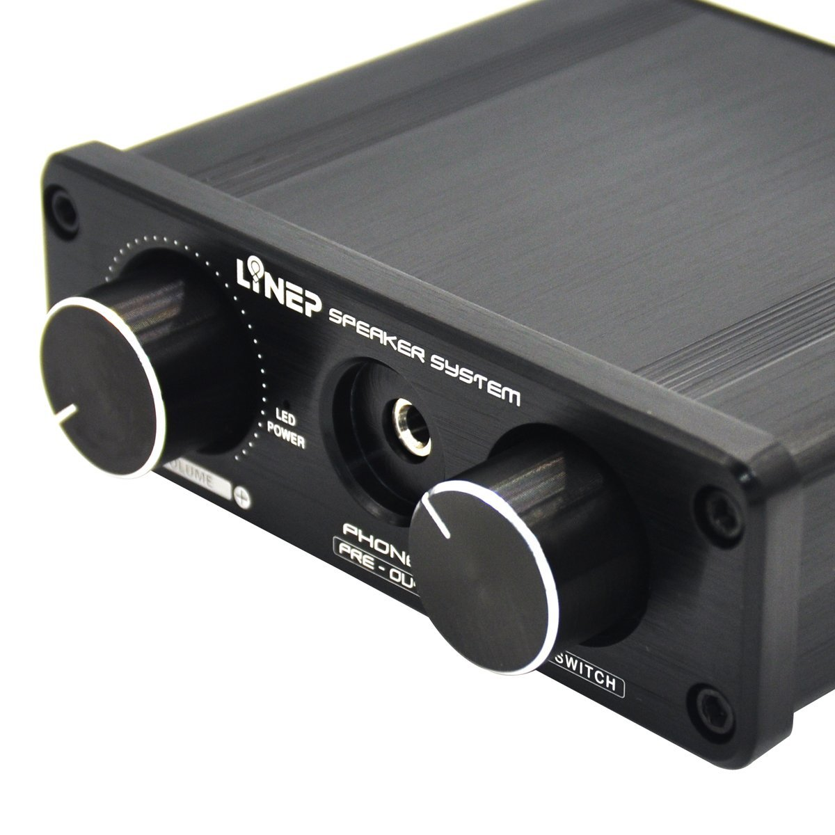 Four-In Two-Out Headphone Amplifier Sound Music Audio Switcher Home Theater A926 Aluminio Negro - by LC Prime®: Amazon.es: Electrónica
