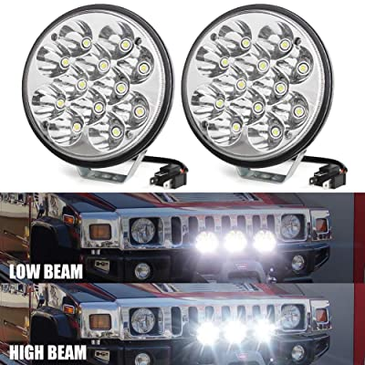 """H5006 5.75"""" 5-3/4 Crystal LED Headlight, High/Low Beam Replacement Upgrade 4000 4040 5506 H651/H466 for Harley Davidson Chrome 36W (2Pcs): Automotive"""