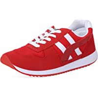 GoldStar Red and White Color Sport Shoes for Women
