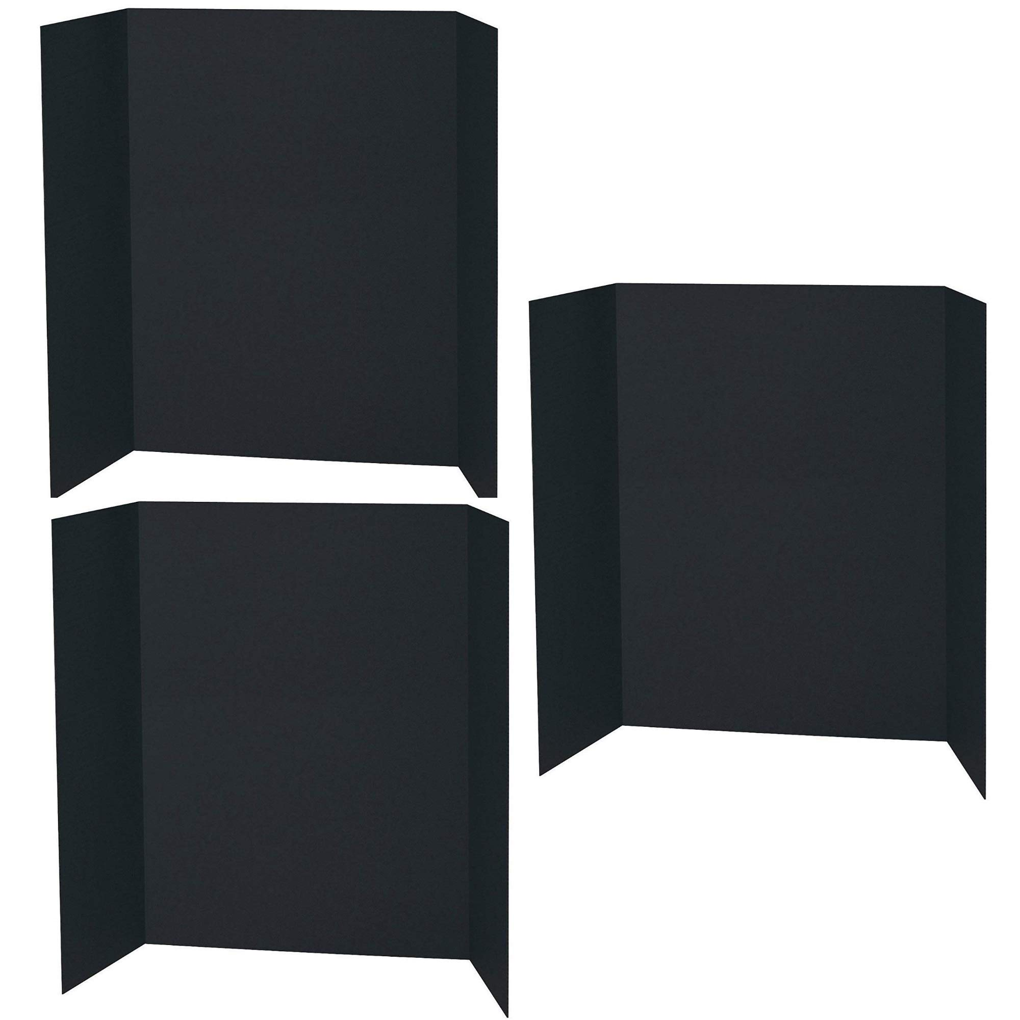 Spotlight Display Board - 48 x 36 Inches - 1 Ply Black, 3 Pack by PACON