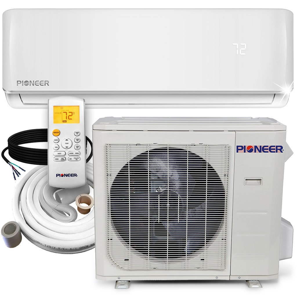 PIONEER Air Conditioner Mini Split Heat Pump Minisplit Heatpump, 24000 BTU-208/230 V