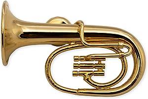 Gold Tuba Miniature Replica Magnet, Size 2 inch