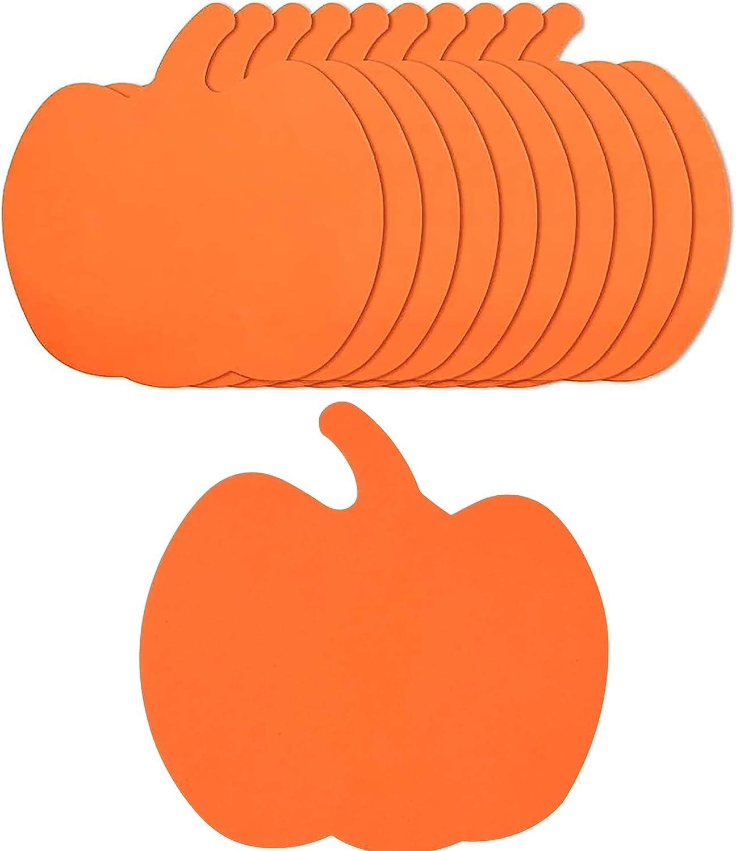 4E's Novelty Foam Pumpkins Craft (24Pack) Large 8 Inch Foam Pumpkin Shapes | Halloween Crafts for Kids Toddlers Fun Home Party Activities, Pumpkin Decorating Kit