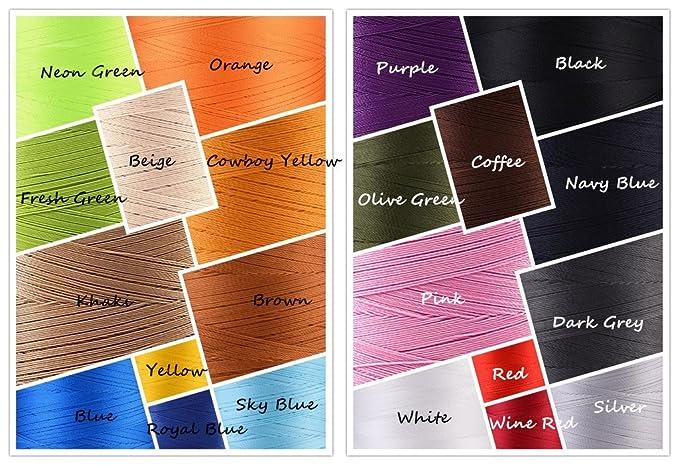 Selric® [ 22 colores disponibles ] Paquete de 2 Resistente a UV alta resistencia 100 % poliéster Hilos de coser T70 # 69, para tapicería, mercado al aire ...