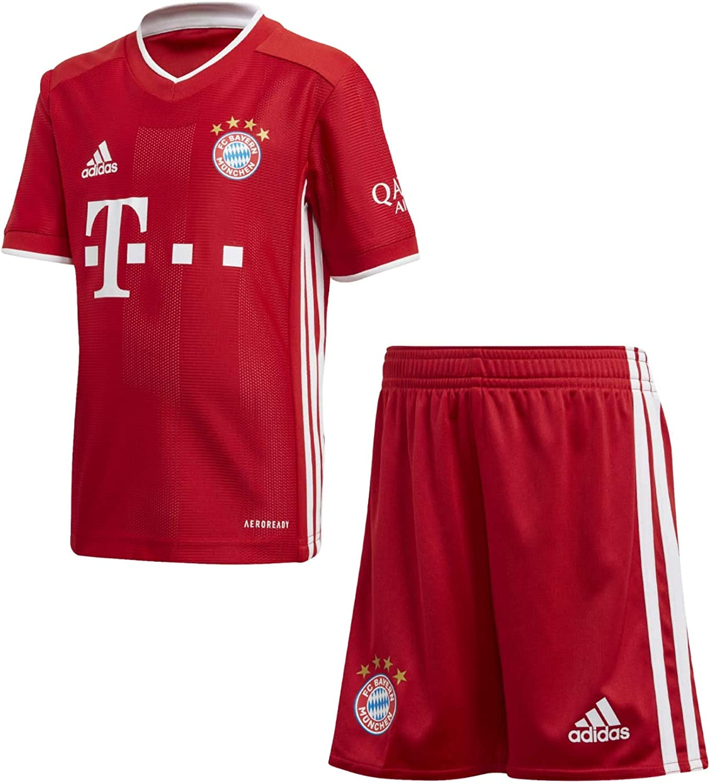 adidas 2020-2021 Bayern Munich Home Little Boys Mini Kit