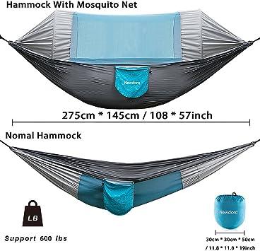 Orange /& Black MoKo Camping Hammock with Net 2 in 1 Hanging Hammock Large Outdoor Parachute Nylon Hammocks Lightweight Portable Swing Sleeping Hammock for Travel Backpacking Yard Hiking up to 440Lbs