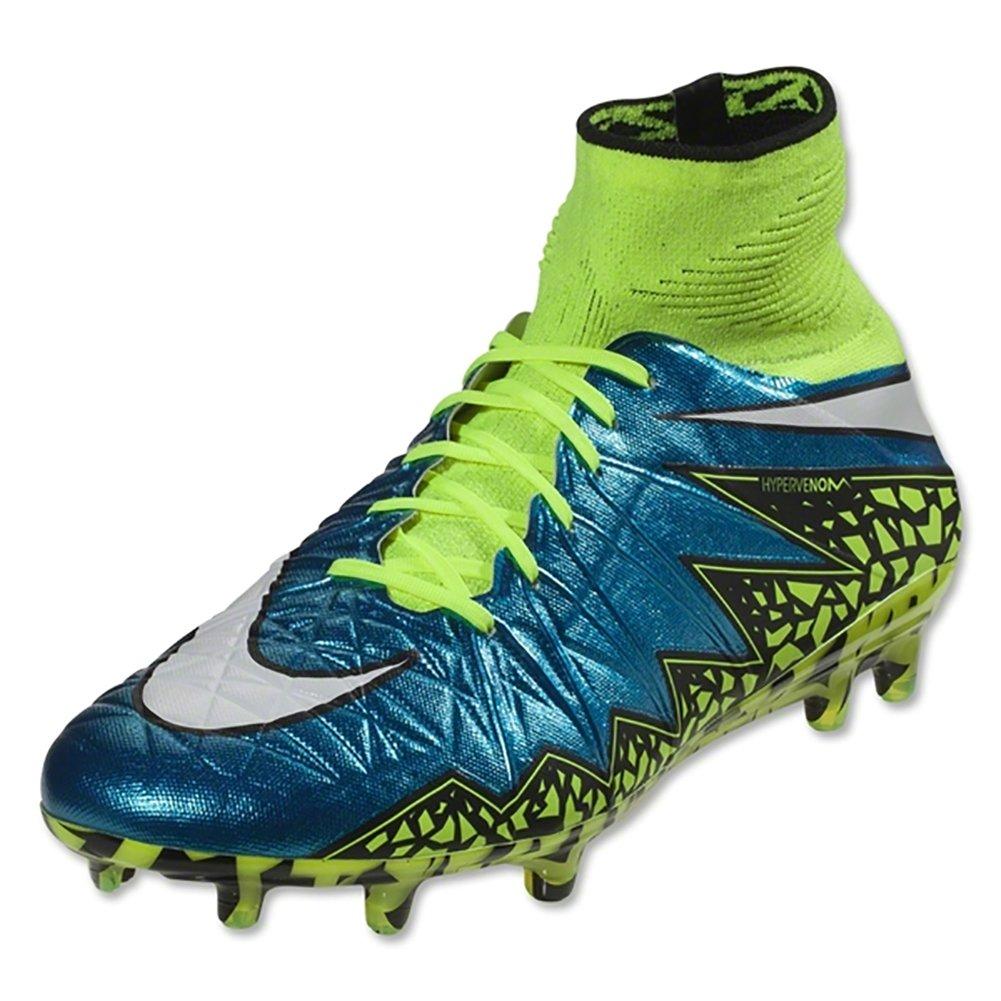 b7e56d67a16d1 Amazon.com | Nike Womens Hypervenom Phantom II FG Firm Ground Soccer Cleats  (Blue Lagoon/White-Volt-Black Blulag/Blanc-Volt, 12) | Soccer