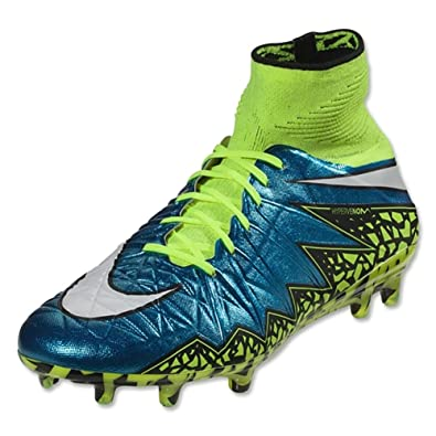 c786d593ef8 Nike Womens Hypervenom Phantom II FG Firm Ground Soccer Cleats (Blue Lagoon  White-
