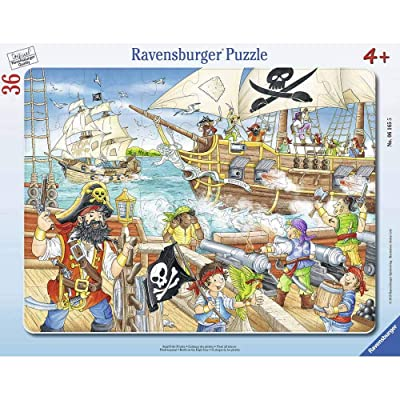 Ravensburger Frame Puzzle 06165 Attack of Pirates, Multicoloured: Toys & Games