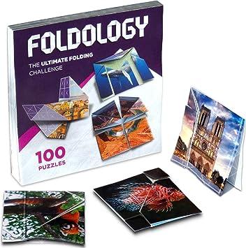 Foldology - Rompecabezas de Origami, diversión Plegable para Adolescentes y Adultos, Juego de lógica práctica, 100 desafíos: Amazon.es: Juguetes y juegos