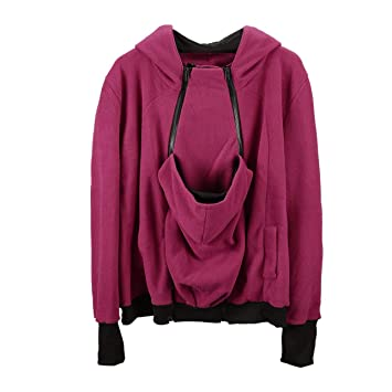 1d073ae8f7fd1 Image Unavailable. Image not available for. Colour: Liobaba Womens  Maternity Fleece Hoodie 3 in 1 Kangaroo Pocket Carrier Baby Holder