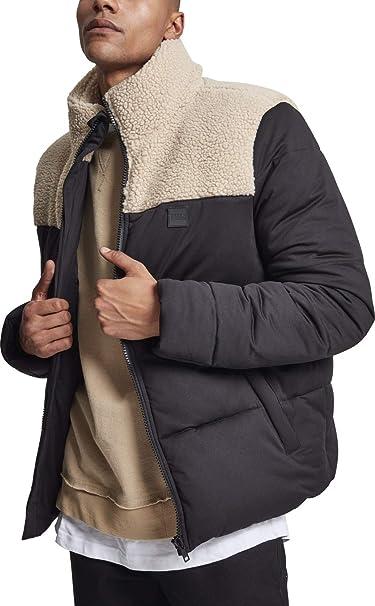 Urban Classics Sherpa Mix Boxy Puffer Jacket, Giacca Uomo