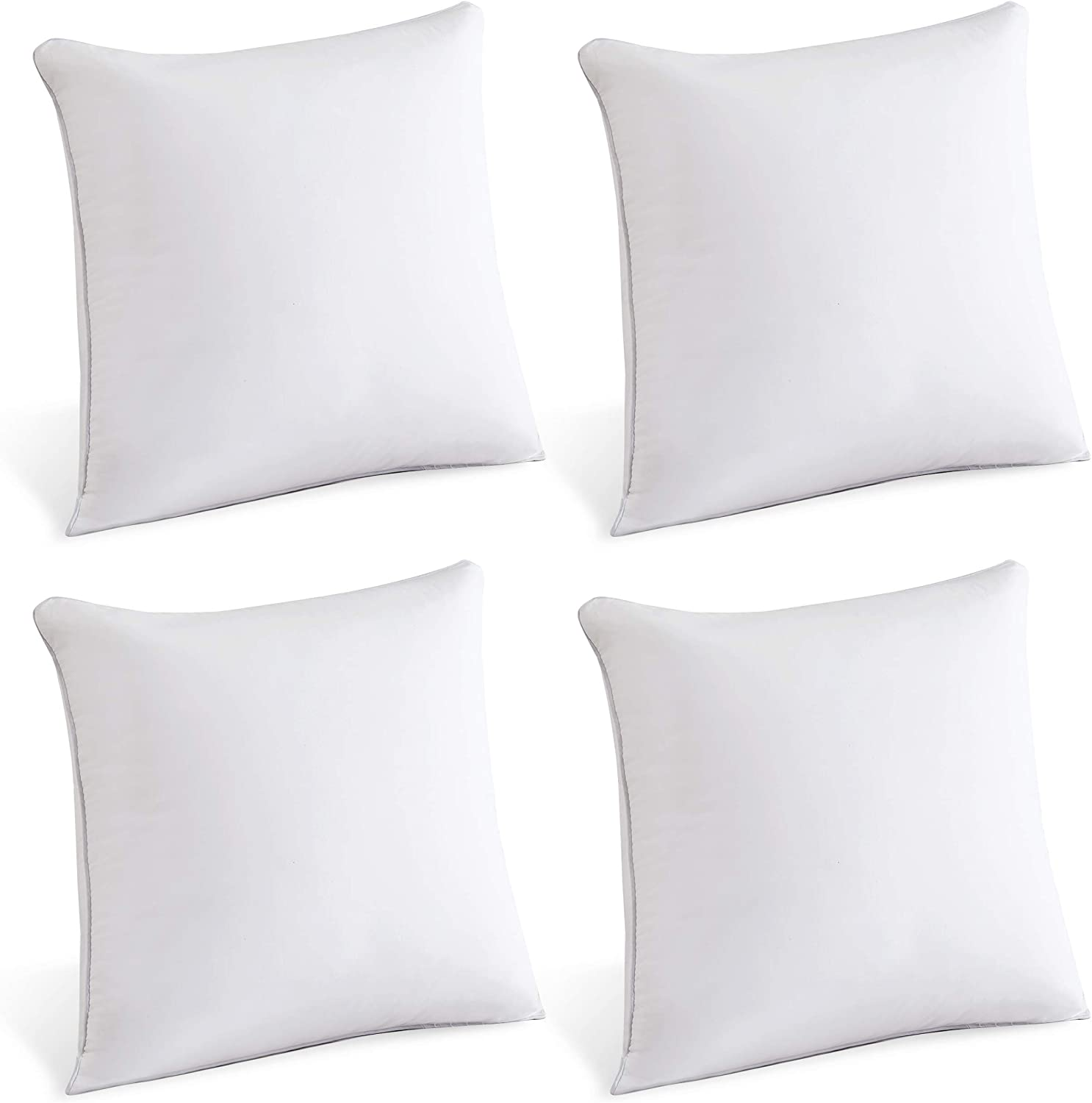 Decorative Pillow Insert Pair White Couch Pillow Set Of 4 Moma 18 X 18 Pillow Inserts 18 X 18 Throw Pillow Inserts With 100 Cotton Cover 18 Inch Square Interior Sofa Pillow Inserts