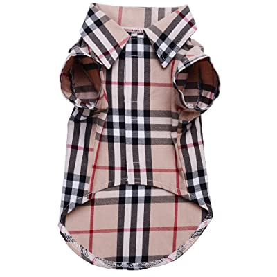 Small Dog Puppy Shirt Clothing Cat Cotton Lapel Costume Polo Apparel