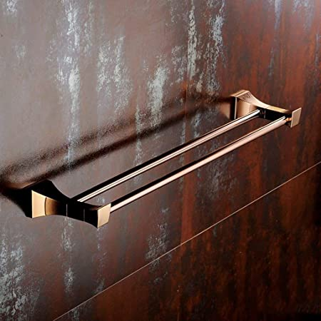 SLINGDA Toallero de Cremallera Full Copper Rose Gold Style Golden Bath Barra de una Sola Palanca: Amazon.es: Hogar