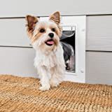 PetSafe Wall Entry Pet Doors with Telescoping Tunnel - Small, Medium, Large - White - Easy to Install - Cat and Dog Door Desi