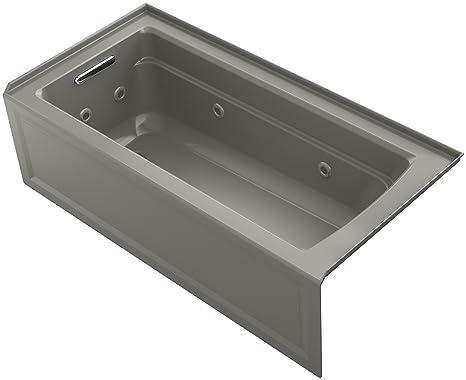 Kohler Vasca Da Bagno : Kohler archer exocyclic cm di nicchia mulinello da bagno