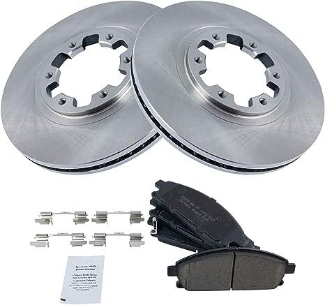 For Nissan Pathfinder QX4 Front Kit Drilled Slotted Brake Rotors /& Ceramic Pads