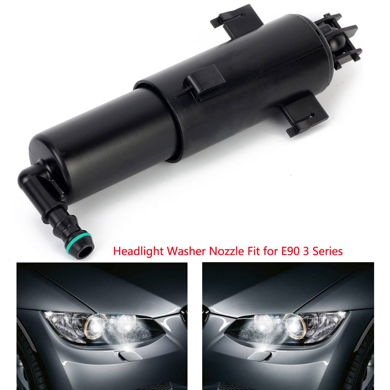 Ferretshop 61677179311 61677308526 Left or Right Side Headlight Washer Nozzle Kit For E90