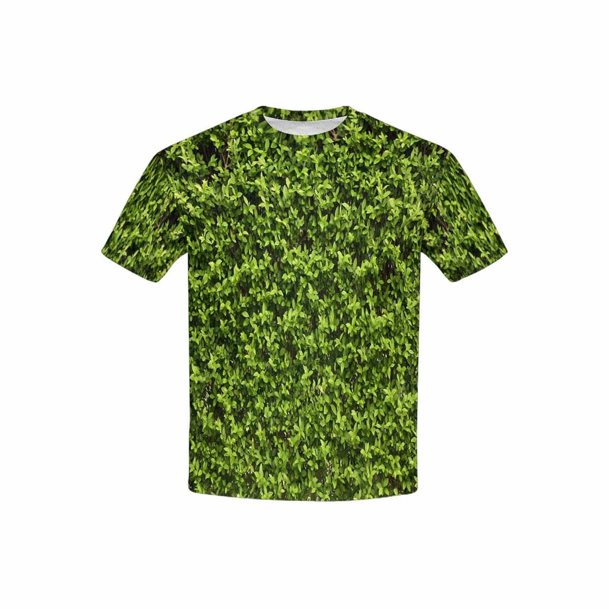 XS-XL INTERESTPRINT Youth T-Shirts Green Leaves Wall