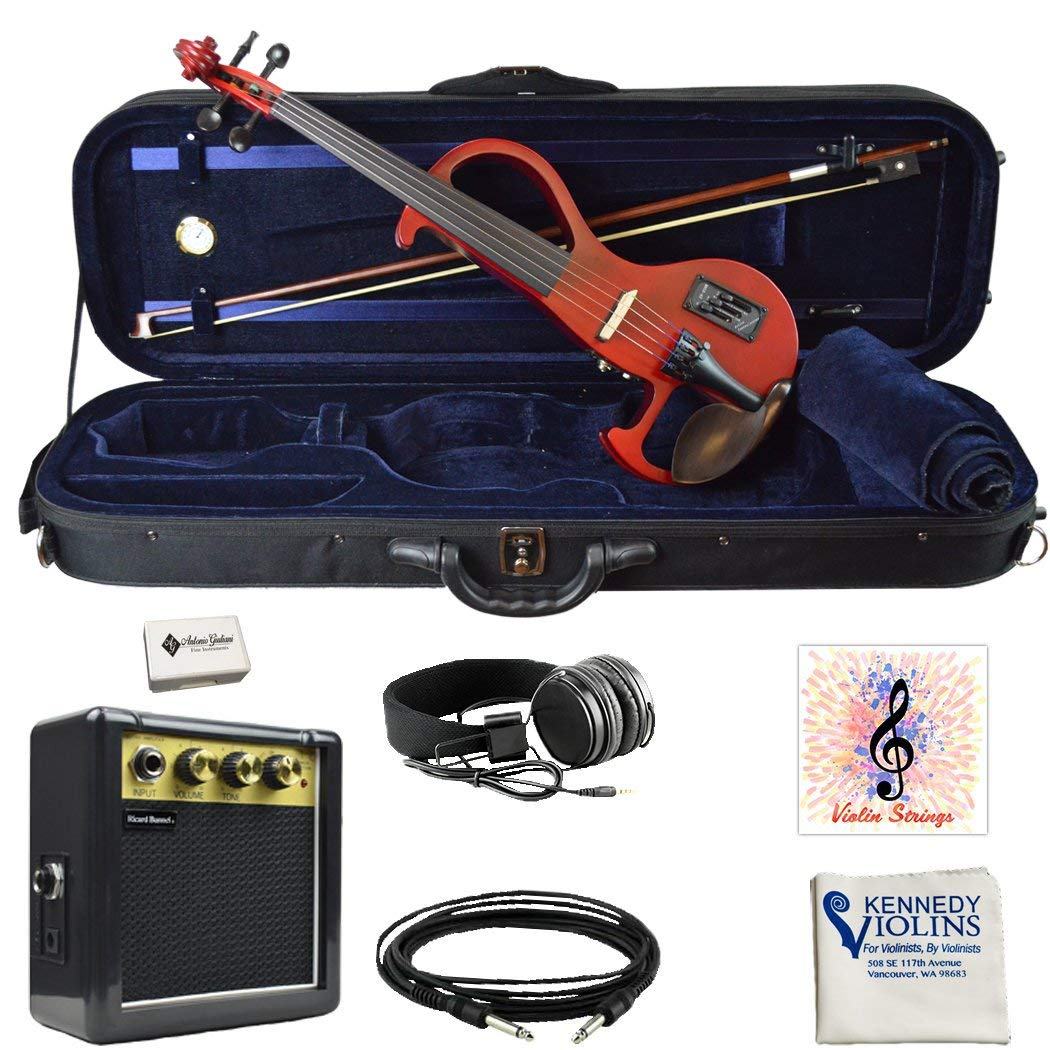 Bunnel EDGE Clearance Electric Violin Outfit Amp Included BE300 (Rockstar Red) by Kennedy Violins (Image #1)