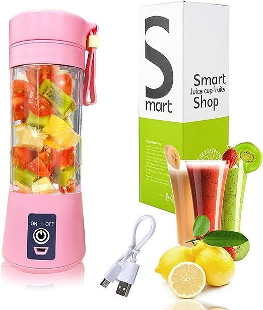 Amazon Com Usb Juicer Cup Pink Portable Juicer Blender 400ml