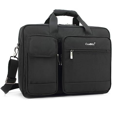 CoolBELL 17.3 Inch Laptop Briefcase Protective Messenger Bag Nylon Shoulder  Bag Multi-Functional Hand Bag f844cf12bf6e3